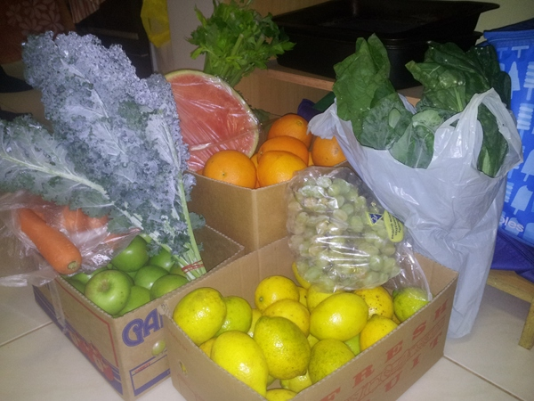 Fresh food for under $40 for a week.  There is more and this is just a sample.  Flemington Markets Sydney NSW